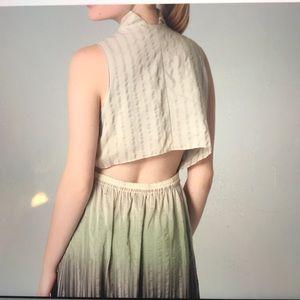 Theyskens' Theory silk maxi dress. Open mid back